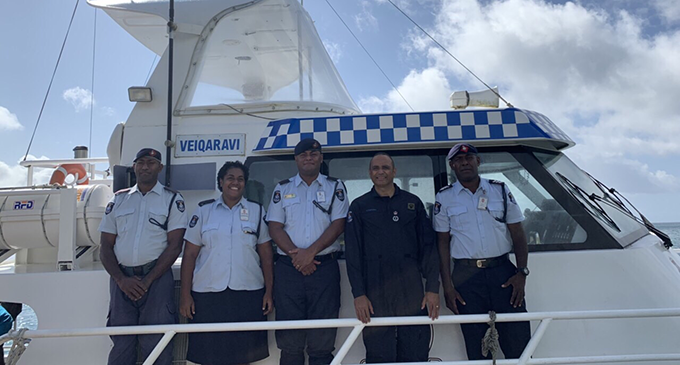 The Kadavu Police team with the Commissioner of Police Brigadier-General Sitiveni Qiliho (4th from left). Photo: Police Media Cell