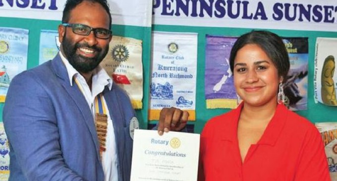 Tia Punja Youngest Rotarian Member in the World: President