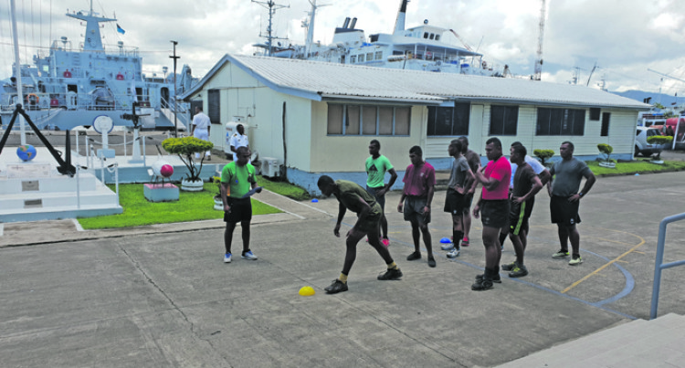 Naval Division Conducts Physical Fitness, Aptitude Tests For Recruits