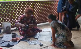 Fijian artifacts impress Mrs Morrison