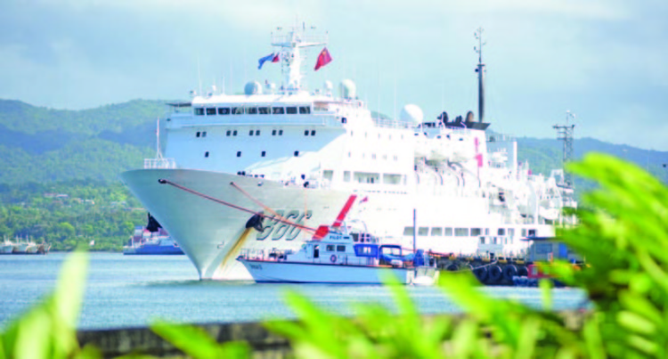 Naval Hospital Ship Calls In To Refuel, Replenish Supplies