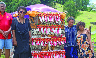 Luveni Family Clean Up Grave Of Late Speaker