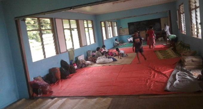Residents of Korova settlement at the Draiba Fijian School evacuation centre.