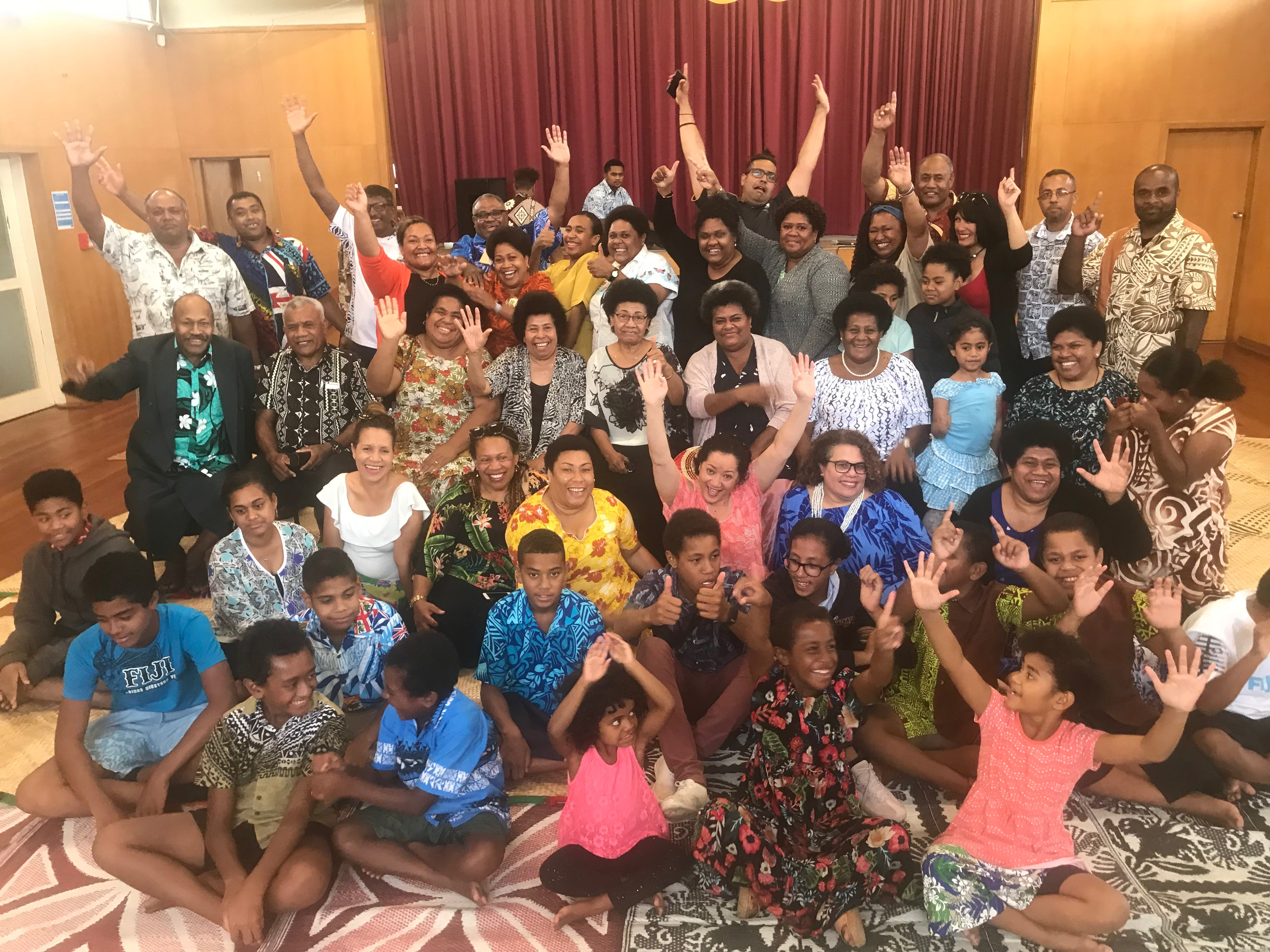 Members of the Hamilton Fijian community waiting for the Fiji Airways Fijian 7s team to arrive for the traditional welcome ceremony on January 21, 2019. Photo: Nemani Delaibatiki