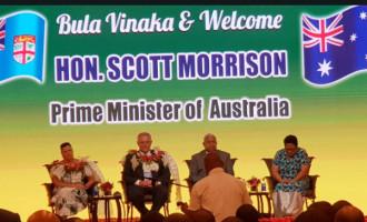 Australian PM Morrison  Arrives In Fiji