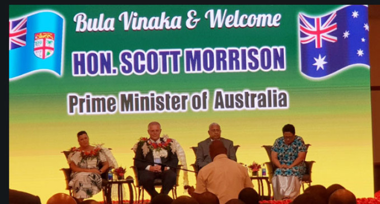 Australian PM Morrison  Arrives In Fiji