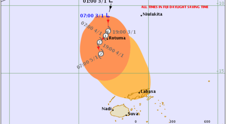 TD04F Developed Into Category 1 Tropical Cyclone Mona