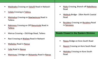 Fiji Roads Authority: Situation Report