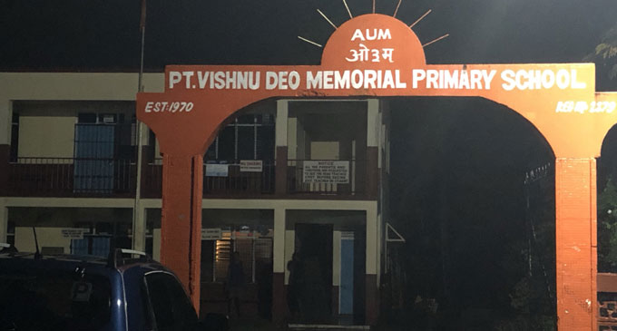 Vishnu Deo Memorial Primary School evacuation centre located along Grantham Road has been activated. Photo: Rosi Doviverata