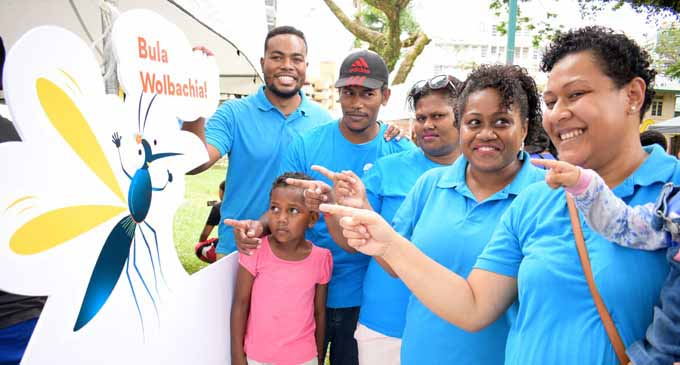 Wolbachia mosquitoes were released in Suva by World Mosquito Programme  Ambassador, Fijian Olympian Jasa Veremalua at Ratu Sukuna Park in Suva on  October 13, 2018. Photo: Ronald Kumar