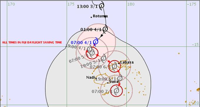 Tropical Cyclone Mona Intensifies to a Category 2 Cyclone