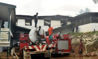 Community, Fire Crew Contain School Blaze