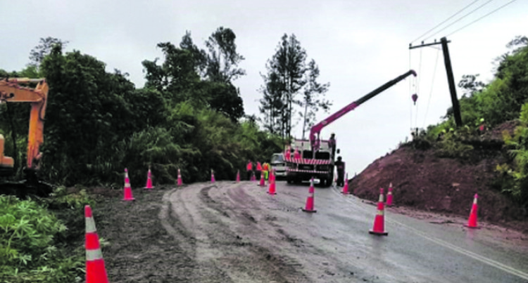Savusavu Road Open After Landslide
