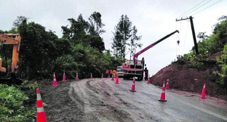 Savusavu Road Open After Landslide