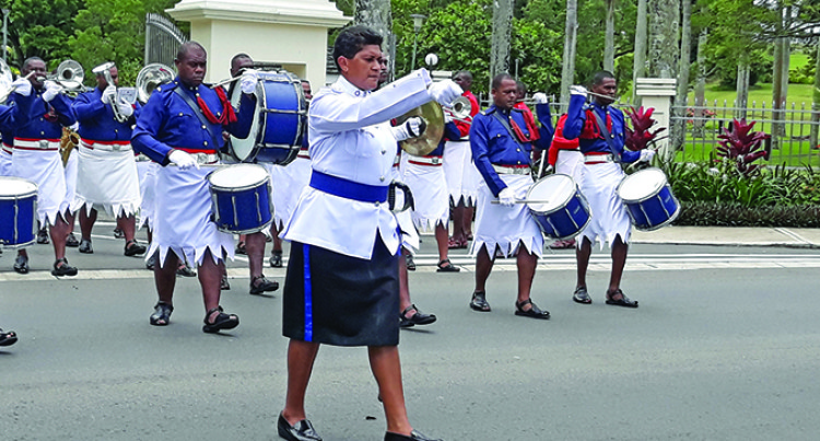 Female Inspector Leads Change Of Guard Parade