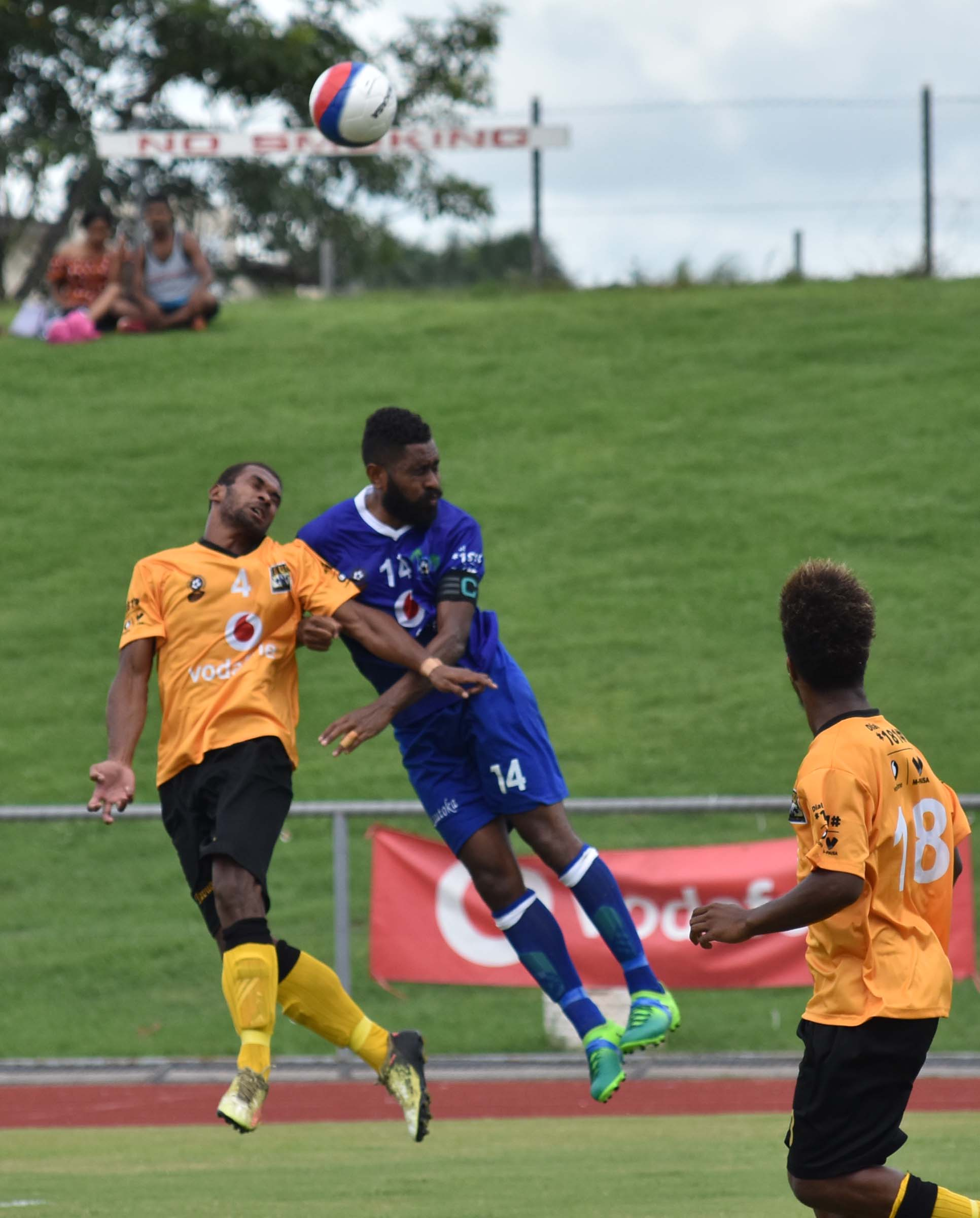 Lautoka's Samuela Drudru ina ction against Tavua in the Vodafone Premier League on January 20, 2019. Photo: Waisea Nasokia