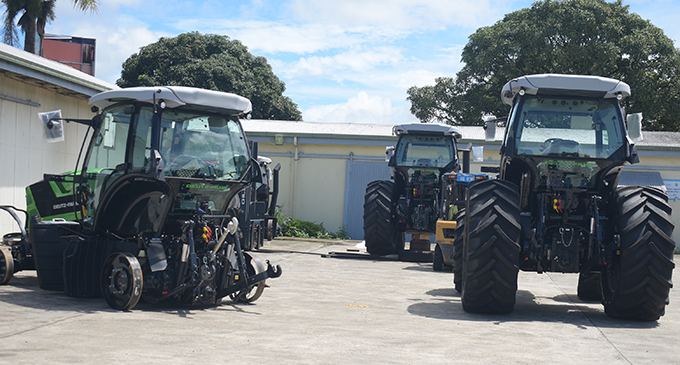 The four tractors that will be used for development on January 20,2019.Photo:Simione Haravanua.