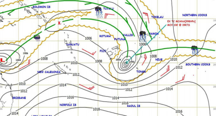 Cyclone Mona Downgraded, Moves Further Away From Fiji