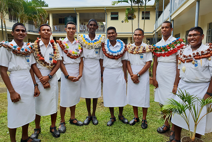 Natabua High School Year13 school prefects after the school's prefects investiture ceremony on February 22. Photo: Nicolette Chambers