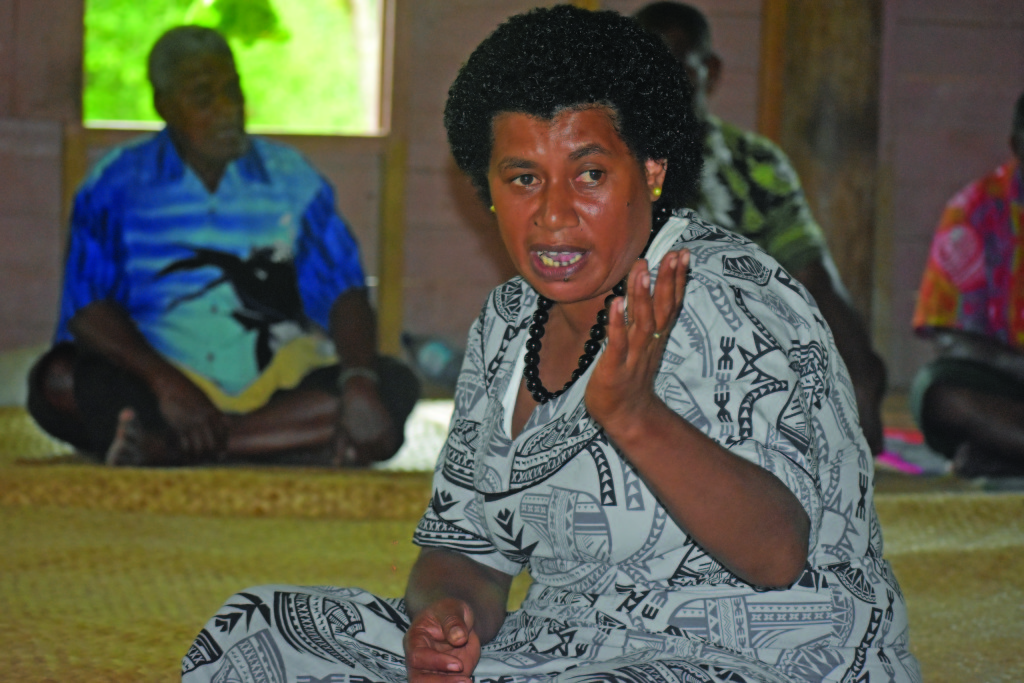 Deputy turaga-ni-koro Mereseini Naola raising the issues which needed to be addressed with the Minister for Infrastructure, Transport, Disaster Management and Meteorological Services, Jone Usamate on February 18, 2019. Photo: Nicolette Chambers