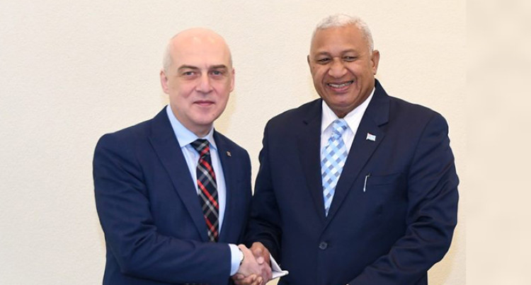 Fiji Prime Minister Holds Talks With Georgia's Foreign Affairs Minister