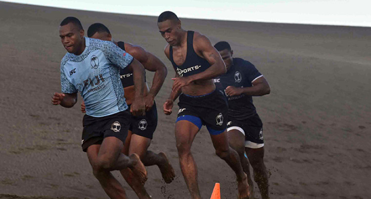 Fiji Rugby 7s: Team Train At Lawaqa Park Before Departing For USA