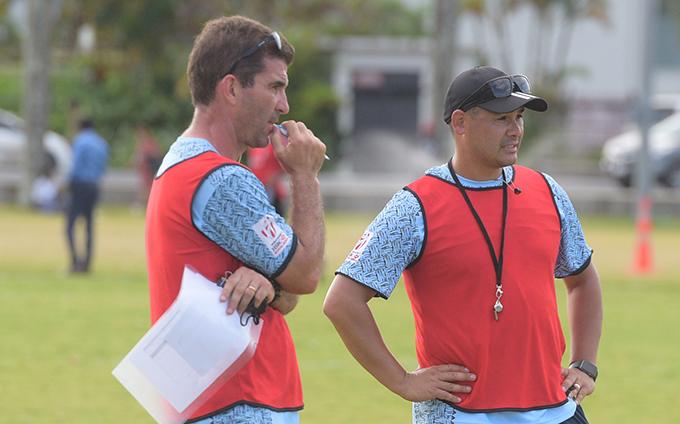 Fiji Airways Fijian 7's head Coach Gareth Baber during training at Albert Park in Suva on February 13, 2019. Photo: Ronald Kumar.