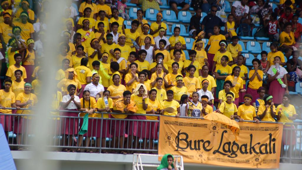 Adi Cakobau School inter-house competition supporters at ANZ Stadium on February 16, 2019. Photo: Ronald Kumar.