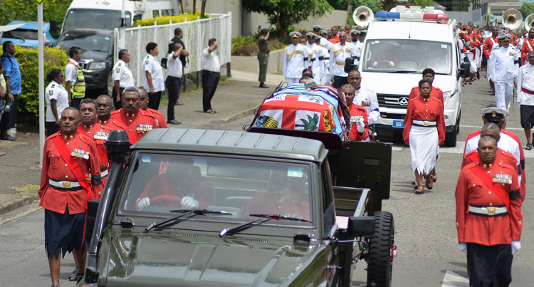 The Late Colonel Paul Manueli Funeral Procession on 28th February, 2019