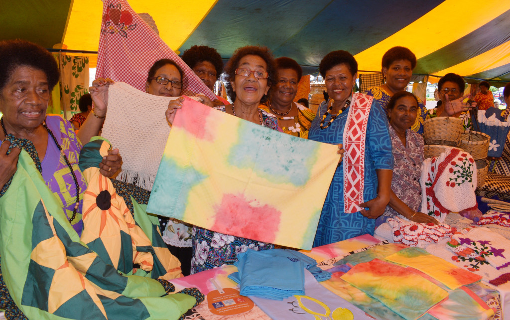 Ladies from Tailevu South displayed their handicraft during the central division craft show at Ratu Sukuna Park on February 21, 2019. Photo: Ronald Kumar.