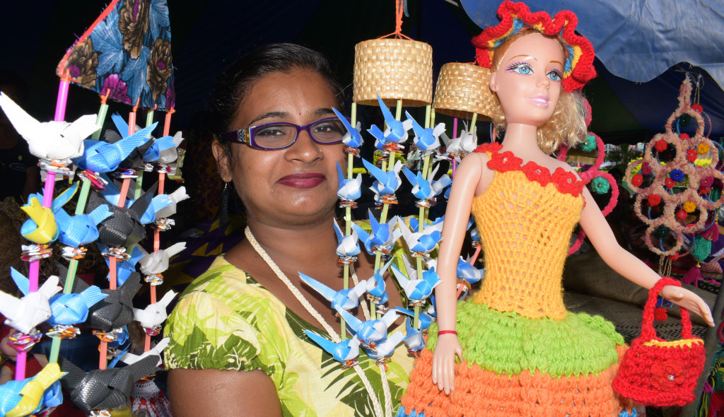 Amrita Nand 30, of Kinoya with some of her handicraft on sale during the central division craft show at Ratu Sukuna Park on February 20, 2019. Photo: Ronald Kumar.