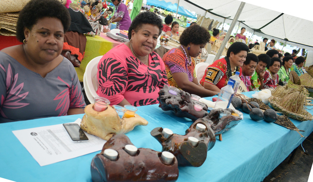Ladies displayed their handycraft during the central division craft show at Ratu Sukuna Park on February 21, 2019. Photo: Ronald Kumar.