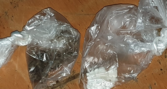 Substances belived to be illicit drugs allegedly found in the German national's possession. PHOTO: Fiji Police Media Unit