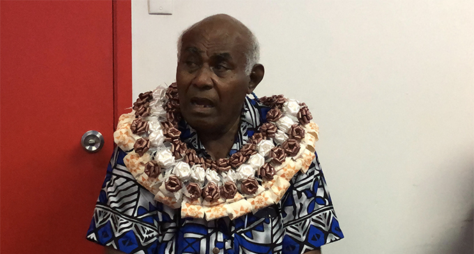 Ratu Ilaitia Tuisese share about  his rugby experience with staff at the Fiji Sun headquarters in Suva.