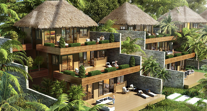 An artist impression of the strata-tilted villas. Photo: FreeSoul