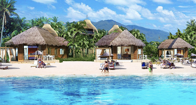An artist impression of the beach-front lots. Photo: FreeSoul