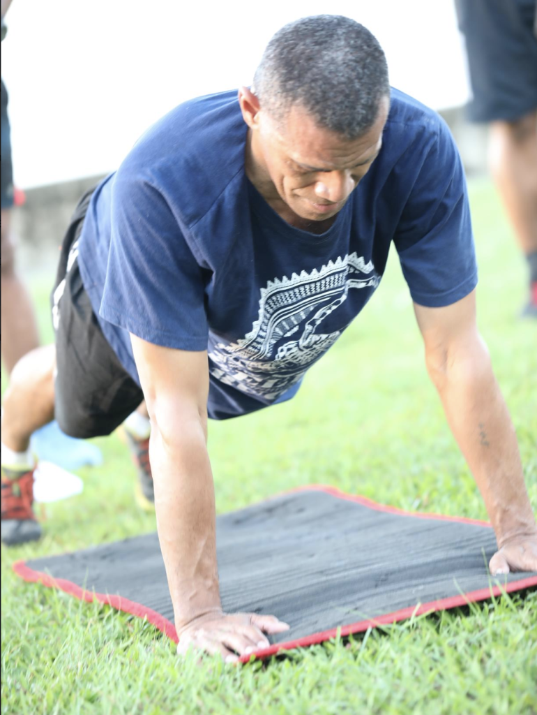 Members of the Command group kicked off the Required Fitness Level Tests at the Nasese foreshore on Monday 18 February, 2019.