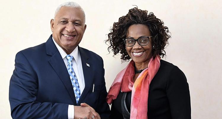 Bainimarama Meet With Costa Rica Vice President, Epsy Campbell Barr