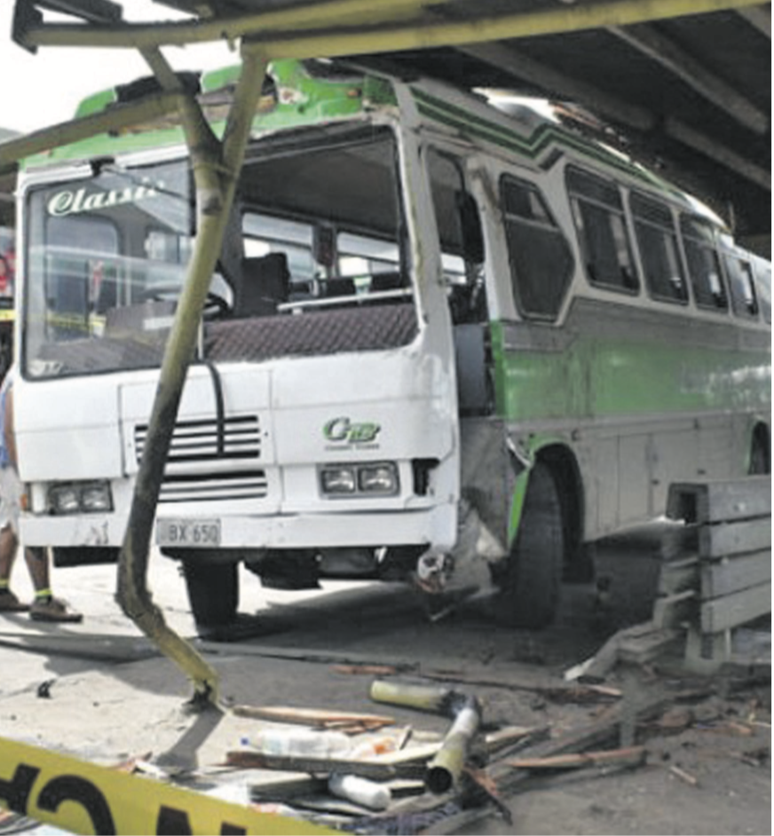 The accident scene at the Nadi Bus Stand in which a woman died last year. Photo: Waisea Nasokia