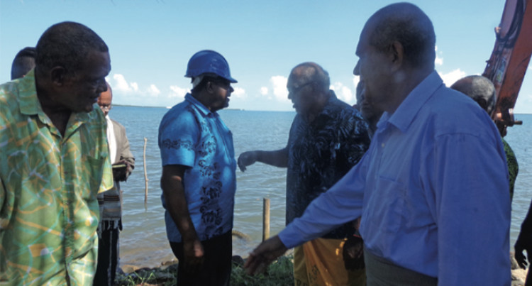 Works Begin On New Seawall For The People Of Namoli
