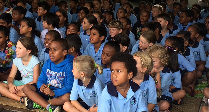 Students of Pacific Harbour Multicultural School.
