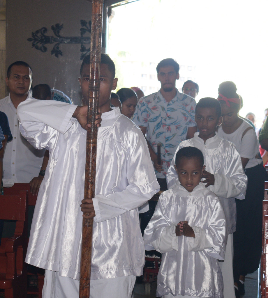 The alter boys during the Asian New Years mass at the Sacred Heart Cathedral Suva on February 17,2019.Photo:Simione Haravanua.