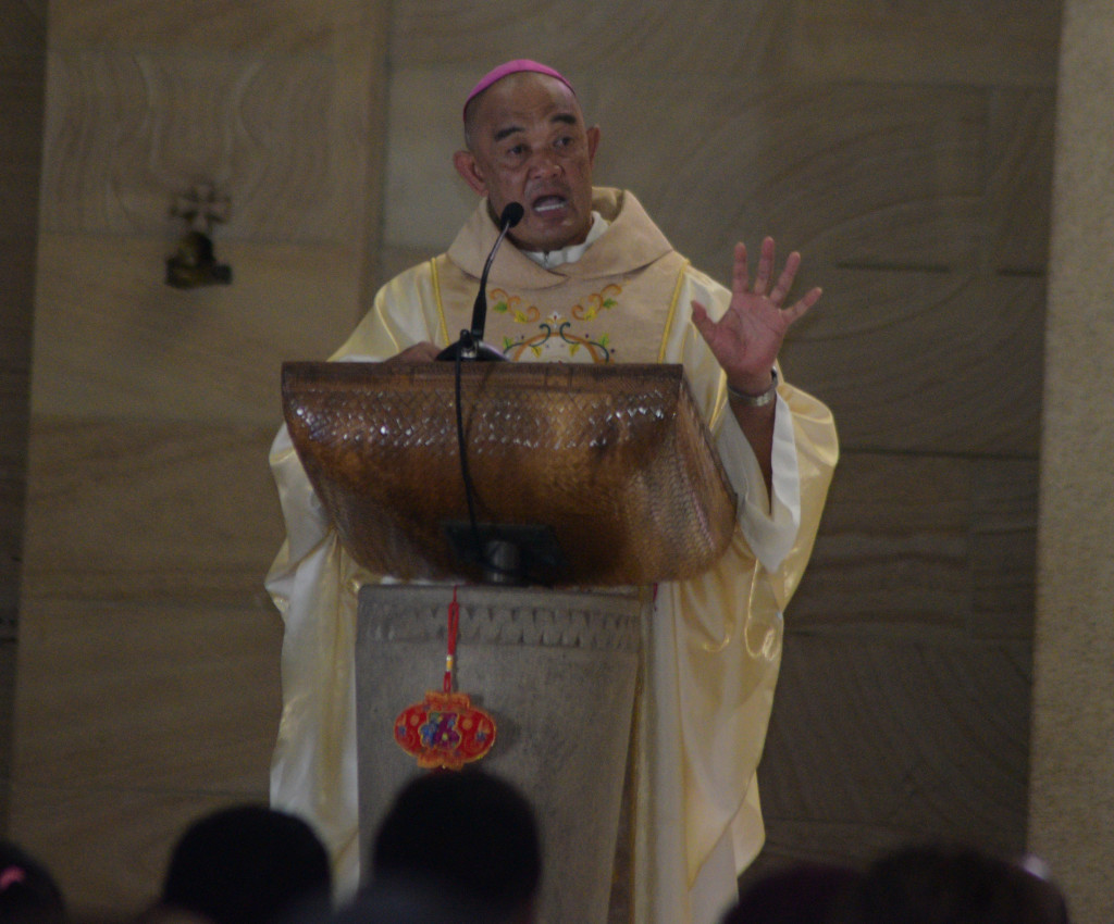 Archbishop Peter Loy Chong during the Asian New Years mass at the Sacred Heart Cathedral Suva on February 17,2019.Photo:Simione Haravanua.