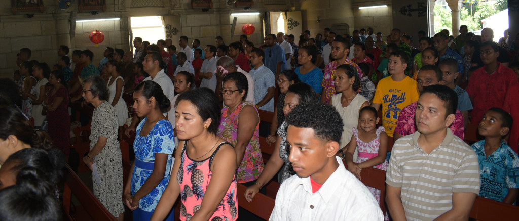 Members of the Chinese community and church members during the Asian New Years mass at the Sacred Heart Cathedral Suva on February 17,2019.Photo:Simione Haravanua.