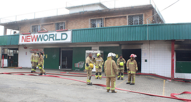 Firefighters Contain Raiwasa Supermarket Morning Blaze