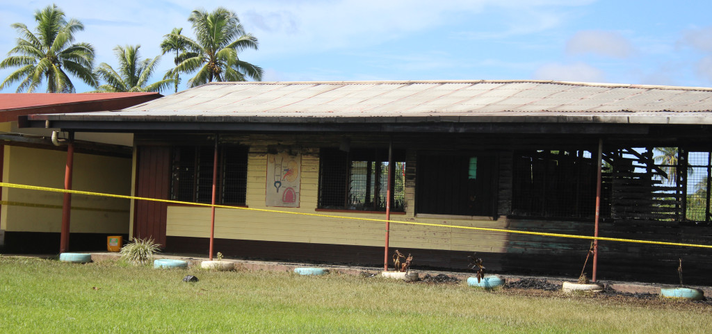 One of the burned classroom at Vuci Methodist School on February 16,2019.Photo:Simione Haravanua.