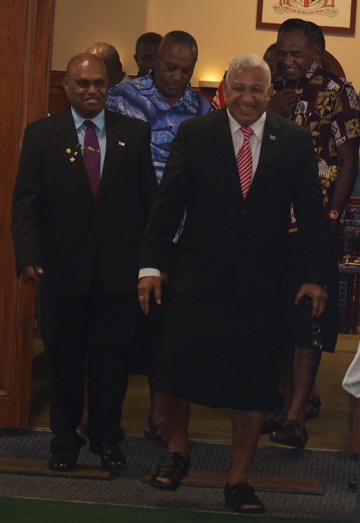 Prime Minister and Minister for iTaukei Affairs and Sugar IndustryVoreqe Bainimarama on February 11,2019.Photo:Simione Haravanua.
