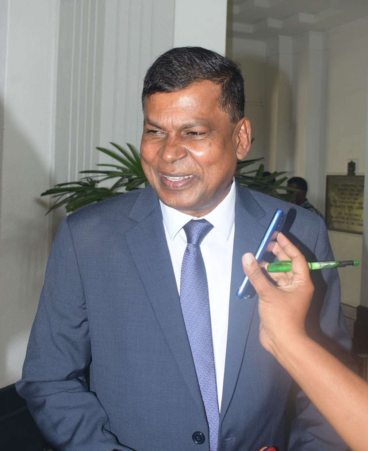 Opposition member Dr, Biman Prasad on February 11,2019.Photo:Simione Haravanua.