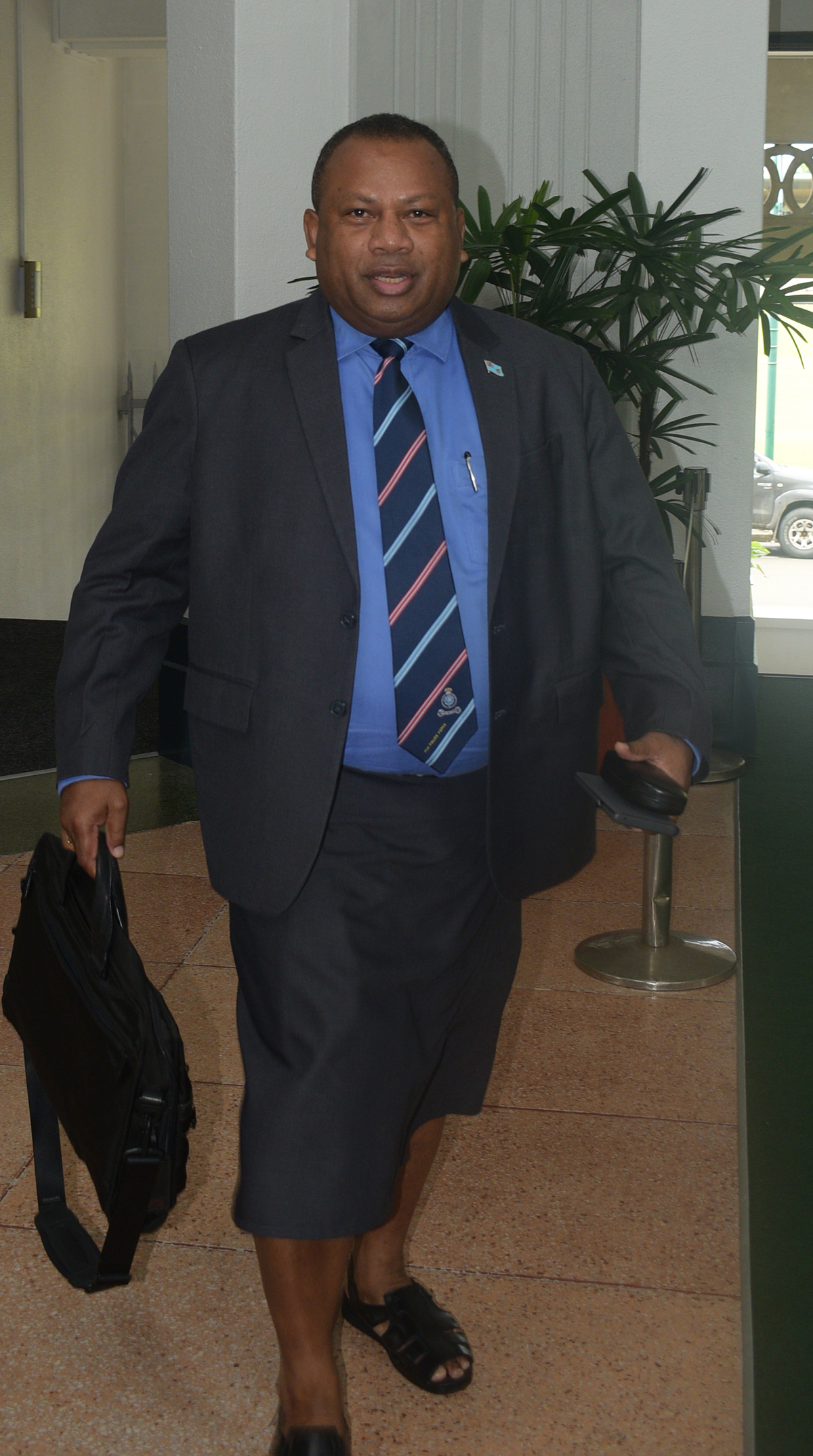 Minister for Defence, National Security and Foreign Affairs Inia Seruiratu outside the parliment house on February 11,2019.Photo: Simione Haravanua.