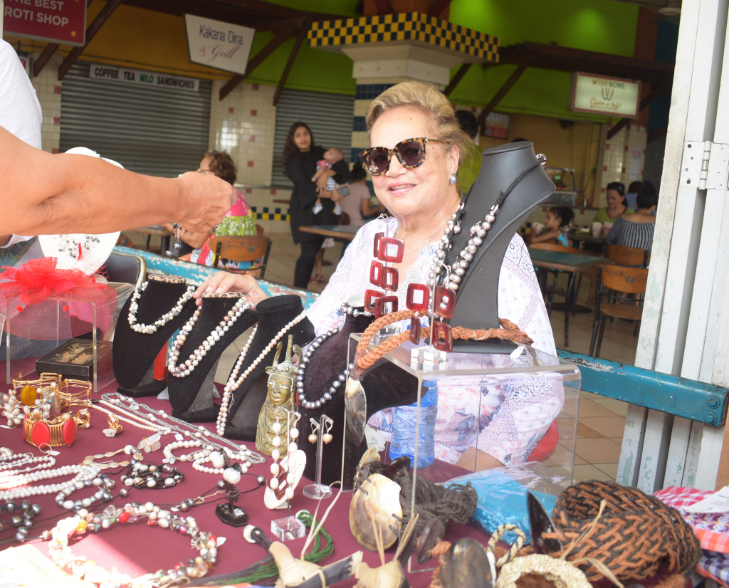 Bernadette Ganilau at her jewelleries stall during the Roc Market in Suva on February 17,2019.Photo:Simione Haravanua.